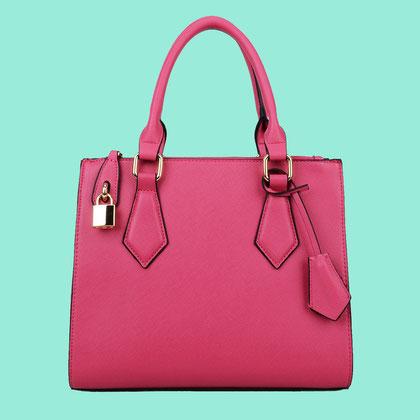 rosa Handtasche , modisch It-Bag , der Hit der neuen Saison