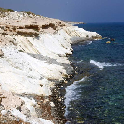 Coast between Agios Giorgios Alamanos beach and Cyprus Cement Company