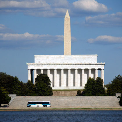 Lincoln Memorial from the Virginia shore of the Potomac River