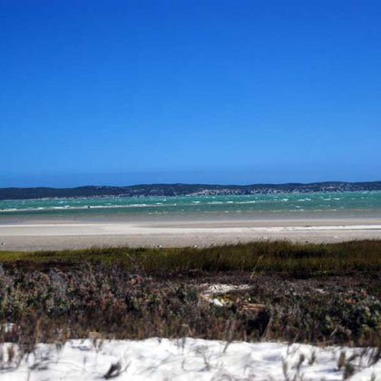 Langebaan lagoon from east side Langebaan Lagoon