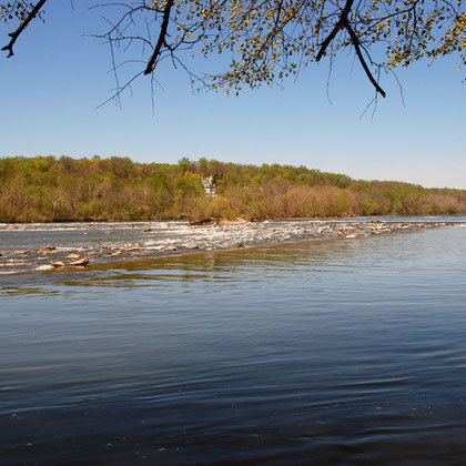 The Potomac River below Great Falls in early April 2008