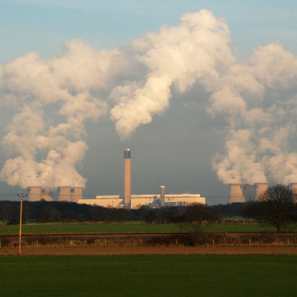 Drax Power Station, Yorkshire - the biggest coal-fired power station in Western Europe