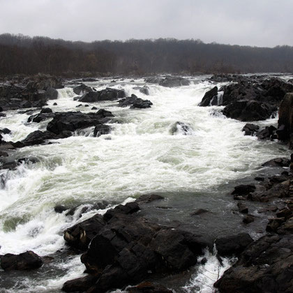 View of Great Falls at the end of March 2008