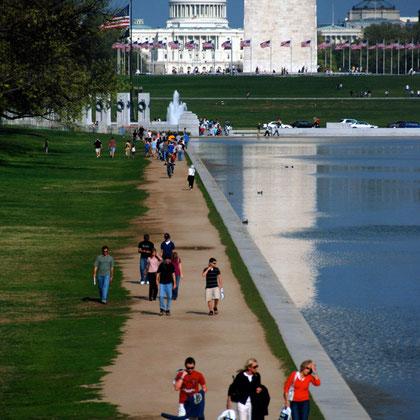 Reflecting Pool, Washington Memorial, Capitol