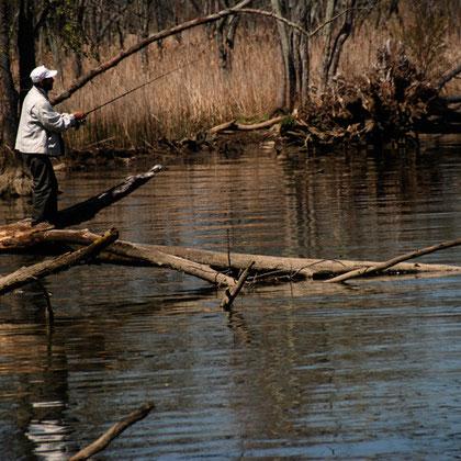 Fisherman on the Virgina shore