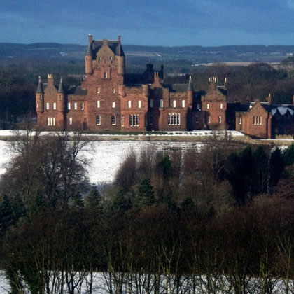 Ayton Castle, Berwickshire designed by James Gillespie Graham, Scotland's leading Gothic revival architect in 1845.
