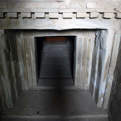 The tomb entrance