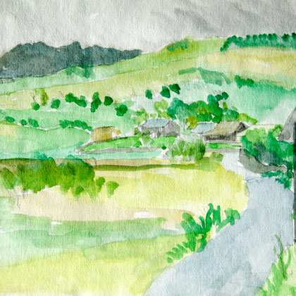 Tyn Drain Dairy, Trawsfynydd (date unkown) (Watercolour)