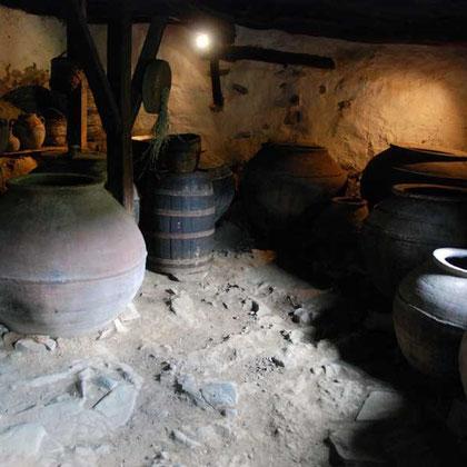 Cellar, Katsinioros House, Fikardou