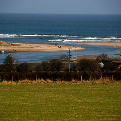 Mouth of the River  Alnmouth, Northumberland