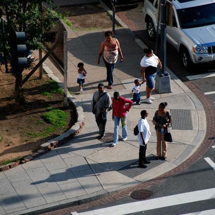 Street corner near Georgetown Law School, Downtown Washington D.C.
