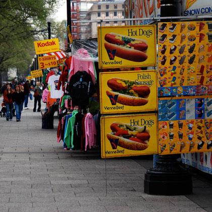 Hotdog stand near the White House