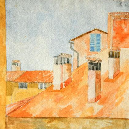 View from Pensione dei Poeti, Bologna (1980)