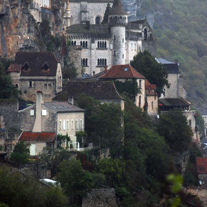Rocamadour in the rain