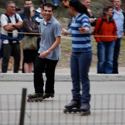 Roller skaters in Central Park