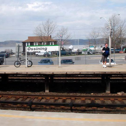 Ossining (Sing Sing) station on the Hudson