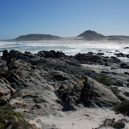Looking north towards Plankiesbaai from Tsaarsbank, West Coast National Park