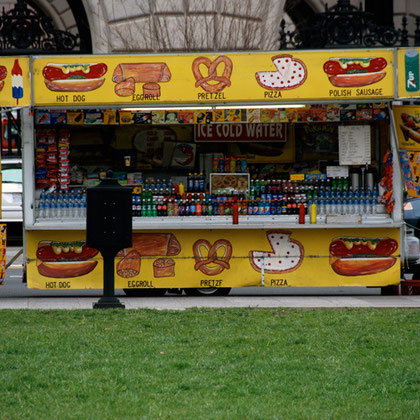 Hotdog stand near the White House