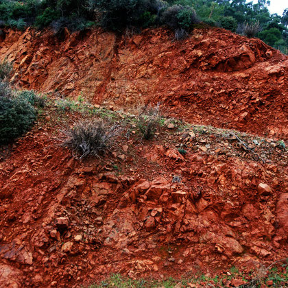 Striking oxide earths of the Troodos near the Xeros valley