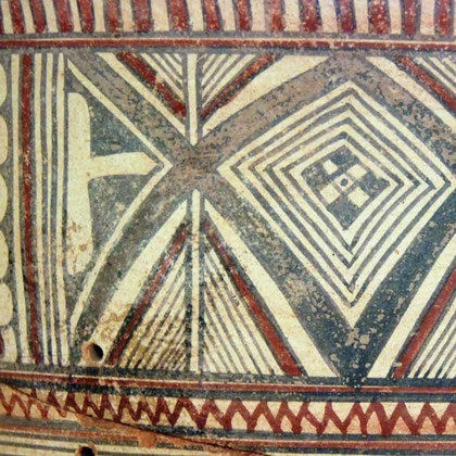 Detail Large amphora, Bichrome IV ware, Cypro-Archaic I  750-465 BC, Pierides Collection, Nicosia