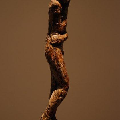 Marcus Selg Eve 2010 Wood, plaster, jute, metal.