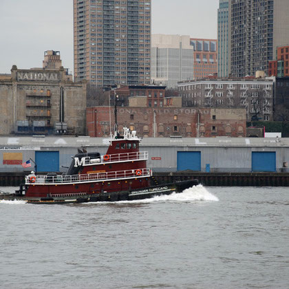Tug guys on Brendan Turecamo in the East River