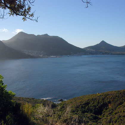 View from Chapman's Peak road to Hout Bay, evening