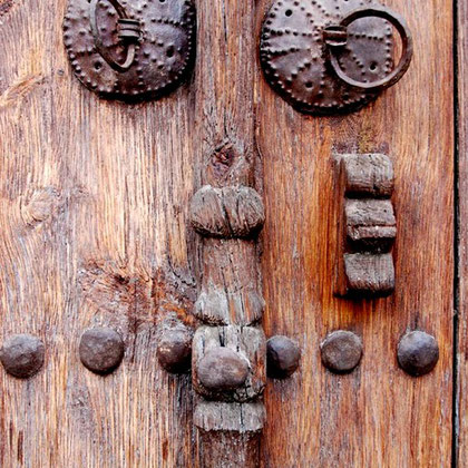 Door detail, Agios Kassionos, Nicosia