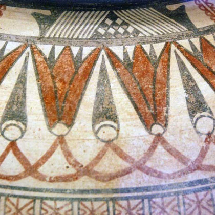 Detail Large amphora, Bichrome IV ware, Cypro-Archaic I  750-465 BC, Pierides Collection, Nicosia