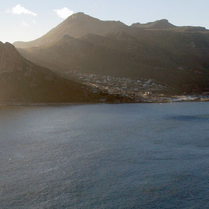 The Sentinel and other mountains behind Hout Bay