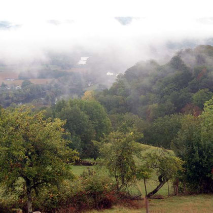 Fog in the Dordogne valley from Loubressac