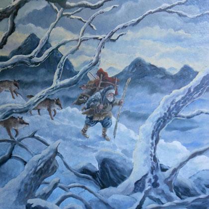 l'hiver des loups-huile-1989