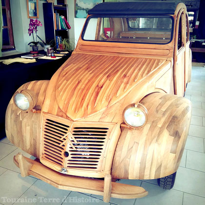 Une voiture unique en bois fruitiers de touraine for Construire sa voiture