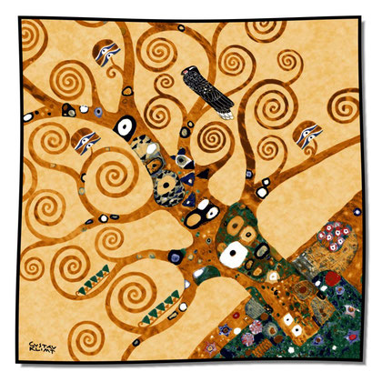 Artikel Nr. 1008 Lebensbaum Detail gold (100 x 100cm)