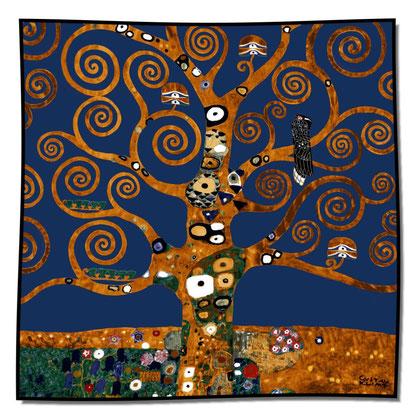 Artikel Nr. 1039 Lebensbaum blau (100 x 100cm)
