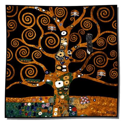 Artikel Nr. 1040 Lebensbaum schwarz (100x100cm)