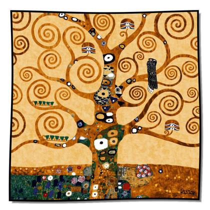 Artikel Nr. 1038 Lebensbaum gold (100 x 100cm)