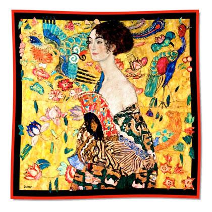 Artikel Nr. 1005 Dame mit Fächer (100 x 100 cm)