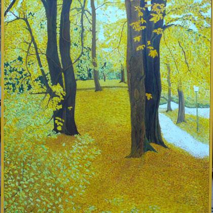 Suneel Ahluwalia, Kurpark Bad Nauheim  (2002) Acryl auf Leinwand  100 x 110