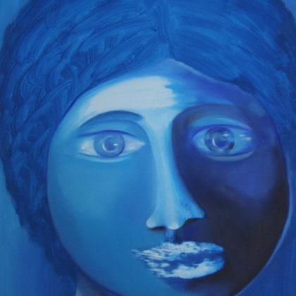 Rita Greve - Blaues Portrait