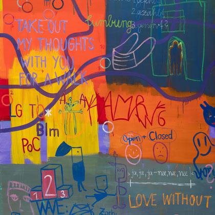 >ein tag im märz< (lockdown III), 2021, 210 x 155 cm, oil/canvas