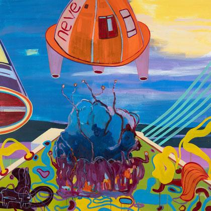 >departure<, 2020, 150 x 150 cm, oil/canvas