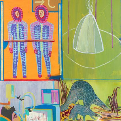 >parallele realitäten<, 2020, 200 x 180 cm, oil/canvas