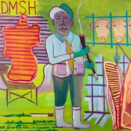 >deutscher schweineknaller<, 2020, 175 x 200 cm, oil/canvas