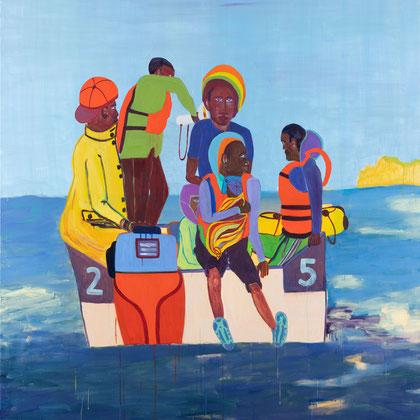 >passage<, 2020, 200 x 180 cm, oil/canvas