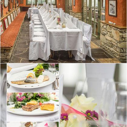 Hochzeitsessen auf der Gamskogelhütte  Heiraten am Berg - www.gamskogel.at