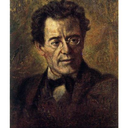 Retrato de Gustav Mahler por Anton Wagner-Henning.