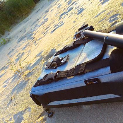 Action cam bag GIPFLbag Kameratasche Fototasche Rucksack bagpack beach