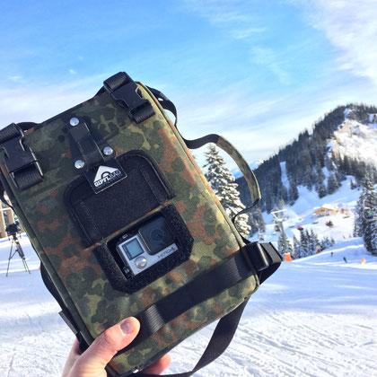 Action cam bag GIPFLbag Kameratasche Fototasche Rucksack bagpack trinkrucksack hydration bladder gramisch