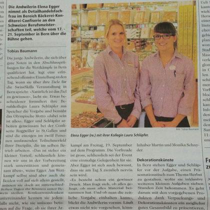 Elena Egger und Laura Schläpfer sind für die Swiss Skills Qualifiziert